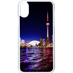 Toronto City Cn Tower Skydome Apple iPhone X Seamless Case (White)