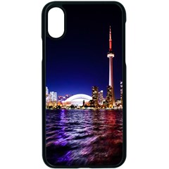 Toronto City Cn Tower Skydome Apple iPhone X Seamless Case (Black)