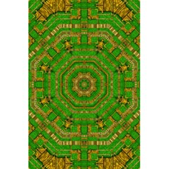 Wonderful Mandala Of Green And Golden Love 5 5  X 8 5  Notebooks by pepitasart