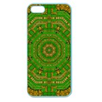 Wonderful Mandala Of Green And Golden Love Apple Seamless iPhone 5 Case (Color) Front