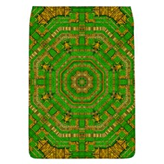 Wonderful Mandala Of Green And Golden Love Flap Covers (l)  by pepitasart