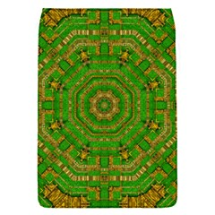Wonderful Mandala Of Green And Golden Love Flap Covers (s)  by pepitasart