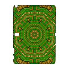 Wonderful Mandala Of Green And Golden Love Galaxy Note 1 by pepitasart