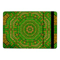 Wonderful Mandala Of Green And Golden Love Samsung Galaxy Tab Pro 10 1  Flip Case by pepitasart