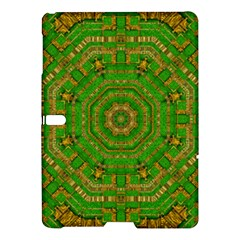 Wonderful Mandala Of Green And Golden Love Samsung Galaxy Tab S (10 5 ) Hardshell Case  by pepitasart