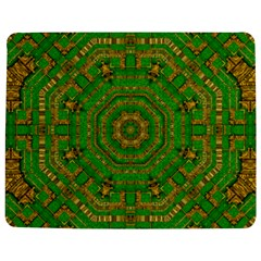 Wonderful Mandala Of Green And Golden Love Jigsaw Puzzle Photo Stand (rectangular) by pepitasart