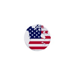 Flag Map Of Canada And United States (american Flag) 1  Mini Buttons by goodart