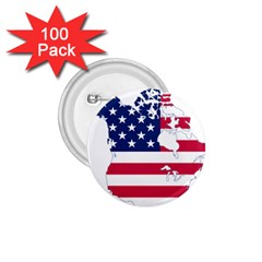 Flag Map Of Canada And United States (american Flag) 1 75  Buttons (100 Pack)  by goodart