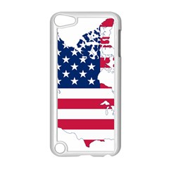 Flag Map Of Canada And United States (american Flag) Apple Ipod Touch 5 Case (white) by goodart