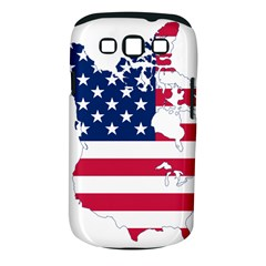Flag Map Of Canada And United States (american Flag) Samsung Galaxy S Iii Classic Hardshell Case (pc+silicone) by goodart