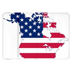 Flag Map Of Canada And United States (american Flag) Samsung Galaxy Tab 8 9  P7300 Flip Case by goodart