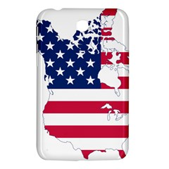 Flag Map Of Canada And United States (american Flag) Samsung Galaxy Tab 3 (7 ) P3200 Hardshell Case  by goodart