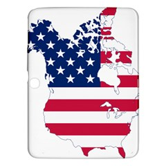 Flag Map Of Canada And United States (american Flag) Samsung Galaxy Tab 3 (10 1 ) P5200 Hardshell Case  by goodart