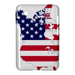 Flag Map Of Canada And United States (american Flag) Samsung Galaxy Tab 2 (7 ) P3100 Hardshell Case  by goodart