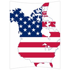 Flag Map Of Canada And United States (american Flag) Back Support Cushion by goodart