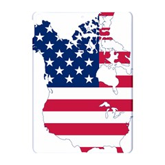 Flag Map Of Canada And United States (american Flag) Apple Ipad Pro 10 5   Hardshell Case by goodart