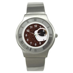 Coffee Stainless Steel Watch by goodart