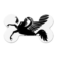 Peo Pegasus Black  Dog Tag Bone (one Side) by goodart