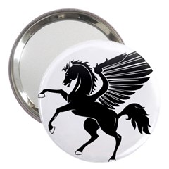 Peo Pegasus Black  3  Handbag Mirrors