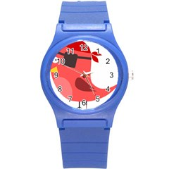 Pirate Bird Vector Clipart Round Plastic Sport Watch (s) by goodart