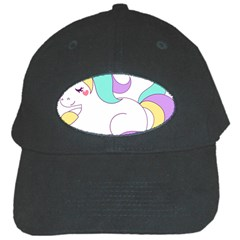 Pastel Unicorn Vector Clipart Black Cap by goodart