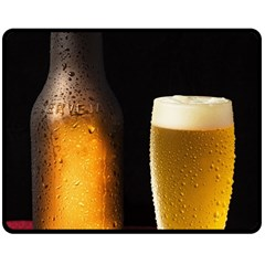 Cold Beer Double Sided Fleece Blanket (medium)  by goodart