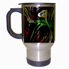 Lillies In Terracota Vase Travel Mug (silver Gray) by bestdesignintheworld