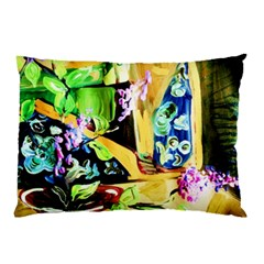 Lilac On A Countertop Pillow Case (two Sides) by bestdesignintheworld