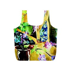 Lilac On A Countertop Full Print Recycle Bags (s)  by bestdesignintheworld