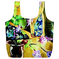 Lilac On A Countertop Full Print Recycle Bags (l)  by bestdesignintheworld