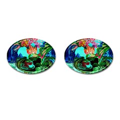 Flowers On The Tea Table Cufflinks (oval) by bestdesignintheworld
