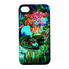 Flowers On The Tea Table Apple Iphone 4/4s Hardshell Case With Stand by bestdesignintheworld
