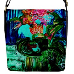 Flowers On The Tea Table Flap Messenger Bag (s) by bestdesignintheworld