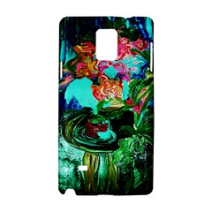 Flowers On The Tea Table Samsung Galaxy Note 4 Hardshell Case by bestdesignintheworld