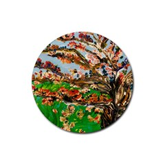 Coral Tree Rubber Coaster (round)  by bestdesignintheworld