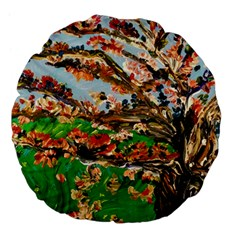 Coral Tree Large 18  Premium Flano Round Cushions by bestdesignintheworld