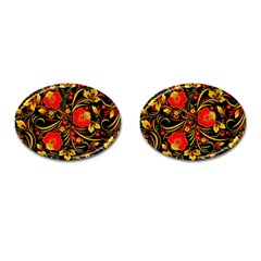 Native Russian Khokhloma Cufflinks (oval) by goljakoff