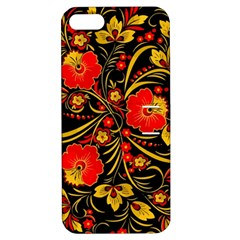 Native Russian Khokhloma Apple Iphone 5 Hardshell Case With Stand by goljakoff