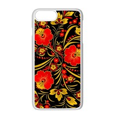 Native Russian Khokhloma Apple Iphone 8 Plus Seamless Case (white)