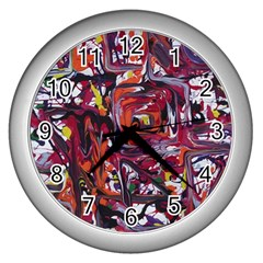 Connections Wall Clocks (silver)  by bestdesignintheworld