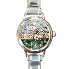Blooming Tree 2 Round Italian Charm Watch by bestdesignintheworld