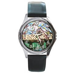 Blooming Tree 2 Round Metal Watch by bestdesignintheworld