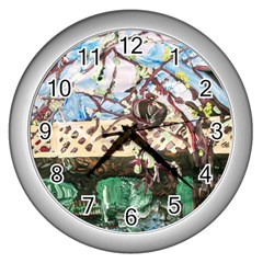 Blooming Tree 2 Wall Clocks (silver)  by bestdesignintheworld