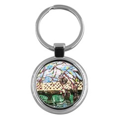 Blooming Tree 2 Key Chains (round)  by bestdesignintheworld