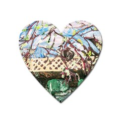 Blooming Tree 2 Heart Magnet by bestdesignintheworld
