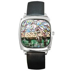 Blooming Tree 2 Square Metal Watch by bestdesignintheworld