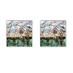Blooming Tree 2 Cufflinks (square) by bestdesignintheworld