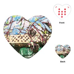 Blooming Tree 2 Playing Cards (heart)  by bestdesignintheworld