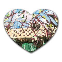 Blooming Tree 2 Heart Mousepads by bestdesignintheworld