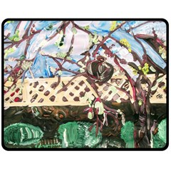 Blooming Tree 2 Fleece Blanket (medium)  by bestdesignintheworld